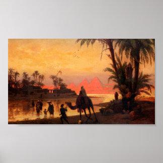 O poster de Nile do rio