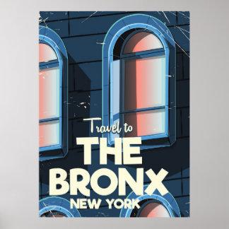 O poster de viagens da Nova Iorque de Bronx