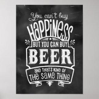 O poster do amante da cerveja
