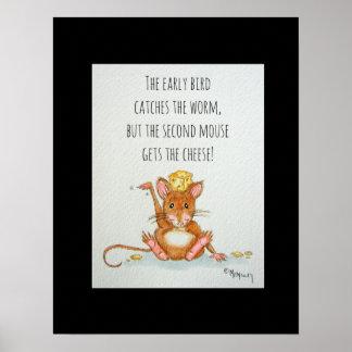 O poster engraçado das citações do segundo rato