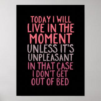 O poster engraçado do quarto das citações vive no pôster
