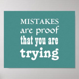 """O poster """" erros da inspiração é prova sua"""