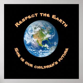 O poster futuro das crianças da terra do planeta