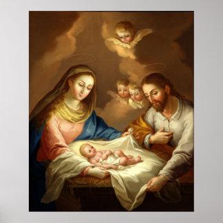 O poster Matte das belas artes da natividade
