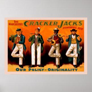 O poster vintage de quatro jaques de homens