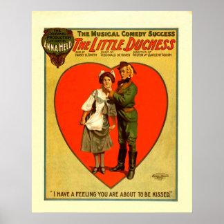O poster vintage pequeno da duquesa artes de palco pôster