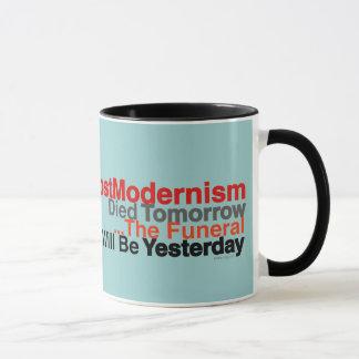 O PostModernism engraçado morreu amanhã caneca de
