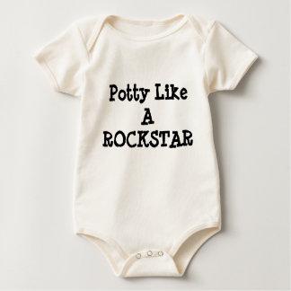 O Potty gosta de um onsie da criança de ROCKSTAR Body Para Bebê