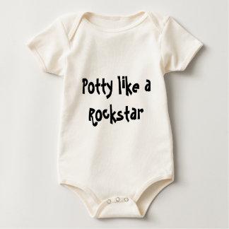 O Potty gosta de um Rockstar Body Para Bebê