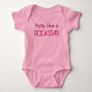 O Potty gosta de um ROCKSTAR Tshirt