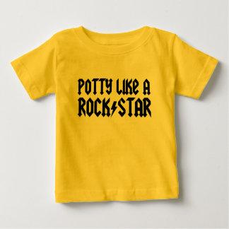 O Potty gosta de uma estrela do rock Camiseta Para Bebê