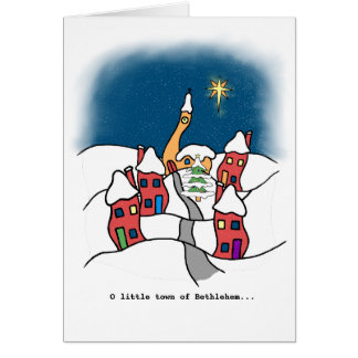 O pouca cidade do cartão de Natal de Bethlehem