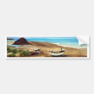 O Praia faz Meco - óleo - 20x40 Adesivos