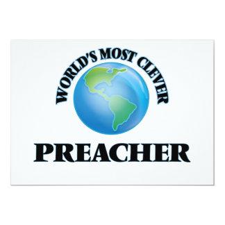 O pregador o mais inteligente do mundo convite 12.7 x 17.78cm
