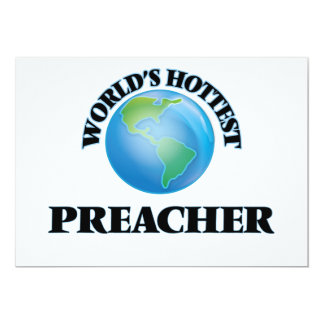 O pregador o mais quente do mundo convites personalizado