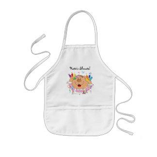 O presente do avental para miúdos personaliza