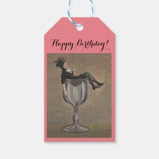 O presente do vinho etiqueta o divertimento feliz