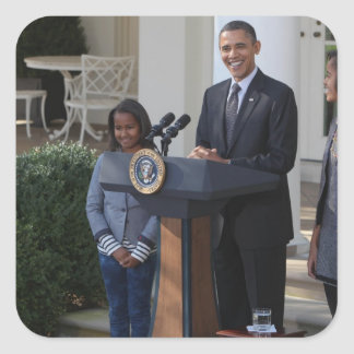 O presidente Barack Obama pardons Adesivo Quadrado