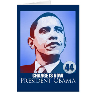 O presidente Obama, mudança é agora cartão