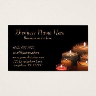 O preto à moda feito sob encomenda Candles cartões