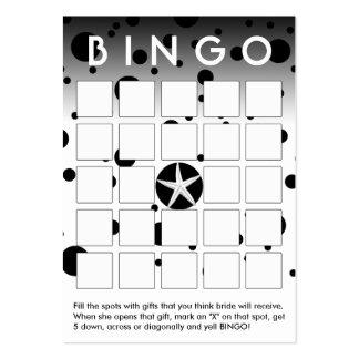 O preto abstrato pontilha o cartão do Bingo do chá Cartoes De Visitas