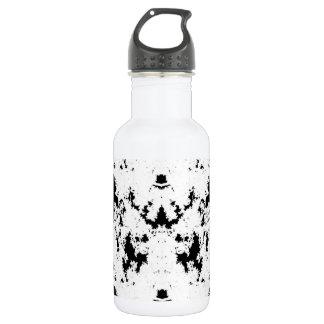 O preto dá forma à garrafa de água