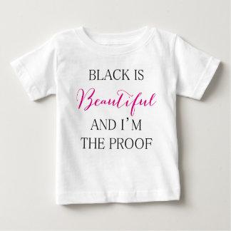 O preto é bonito camiseta para bebê