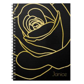 O preto e o ouro aumentaram cadernos