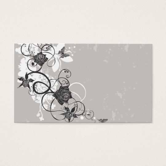 O preto floresce o cartão de visita