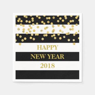 O preto listra guardanapo do feliz ano novo dos