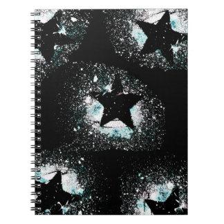 O preto Stars o caderno
