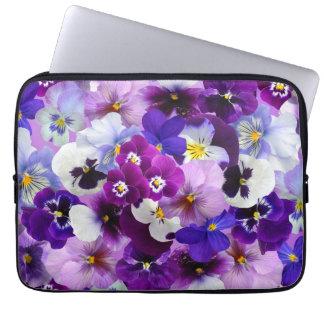 O primavera bonito dos Pansies floresce a bolsa de Capa Para Notebook
