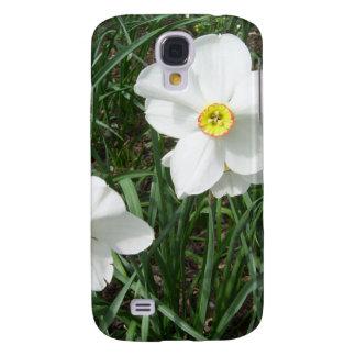 O primavera branco bonito floresce CricketDiane Galaxy S4 Cover