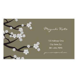 O primavera branco de Sakura das flores de Modelos Cartões De Visitas