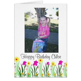 O primavera brilhante floresce o presente de cartão comemorativo