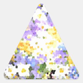 O primavera do vitral floresce o verde violeta adesivos triângulo