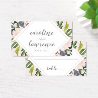 O primavera floral cora cartão liso Wedding da