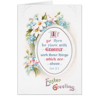 O primavera floresce a páscoa religiosa do vintage cartão comemorativo