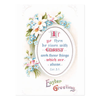 O primavera floresce a páscoa religiosa do vintage cartão postal