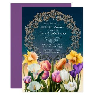 O primavera floresce convites elegantes do quadro
