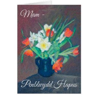 O primavera floresce o cartão de aniversário, Mam:
