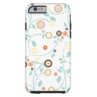O primavera floresce o teste padrão floral chique capa tough para iPhone 6
