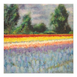 O primavera floresce o Triptych da paisagem que Convite Quadrado 13.35 X 13.35cm