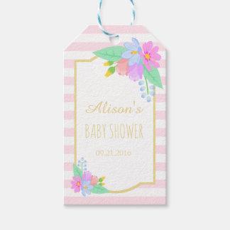 O primavera floresce Tag cor-de-rosa do presente
