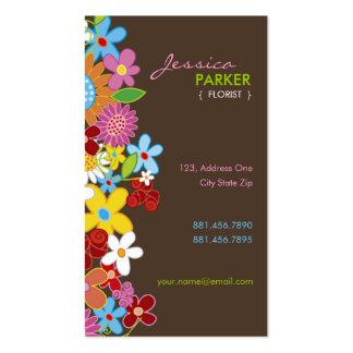 O primavera lunático doce floresce o jardim modelos cartões de visita