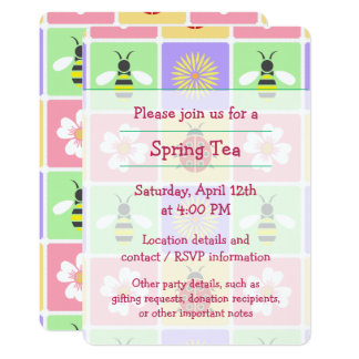 O primavera remenda o convite de festas