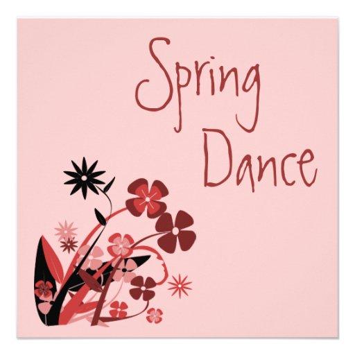 O primavera saltou! Convite da dança do primavera