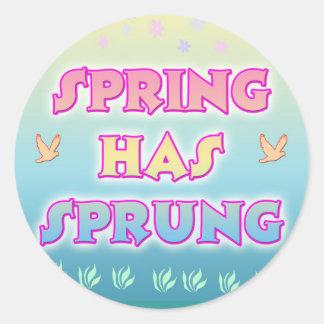 O primavera tem a etiqueta saltada