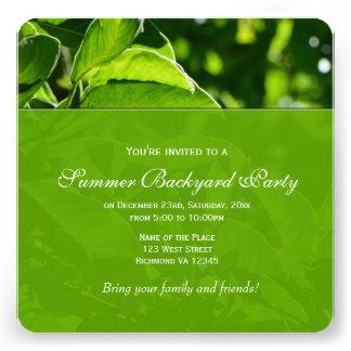 O primavera verde do verão sae do partido do convites personalizados