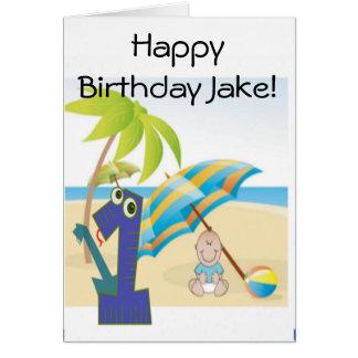 O primeiro aniversário do bebé cartão comemorativo